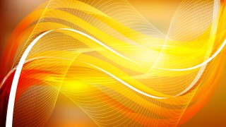 Orange and Yellow Curved Lines Background