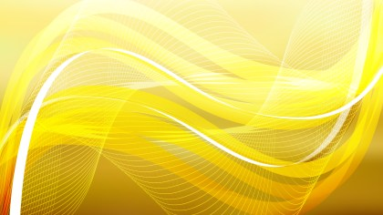 Orange and Yellow Flowing Curves Background