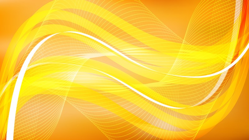 Orange and Yellow Flowing Curves Background Vector Graphic