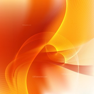 Orange and Yellow Flowing Lines Background