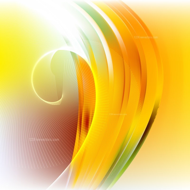 Orange White and Green Flow Curves Background