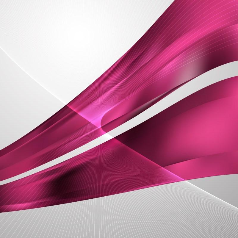 Pink Wave Lines Background Design Template
