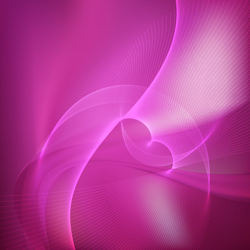 Abstract Pink Curved Lines Background Vector Illustration