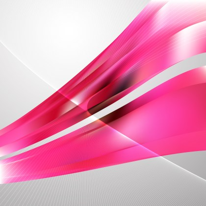 Pink Flow Curves Background Vector Image