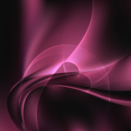 Pink and Black Flowing Curves Background