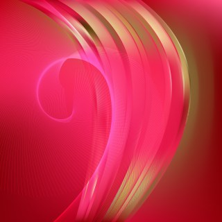 Abstract Pink and Gold Flow Curves Background