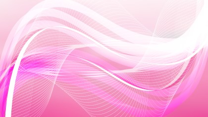 Abstract Pink and White Wave Lines Background