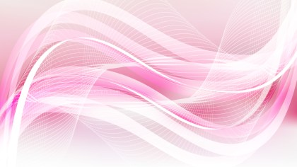 Abstract Pink and White Flowing Curves Background Vector Graphic