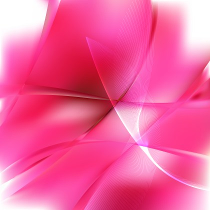 Abstract Pink and White Flowing Curves Background