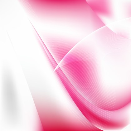 Abstract Pink and White Flow Curves Background