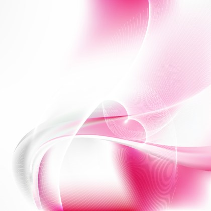 Abstract Pink and White Curved Lines Background Vector Illustration
