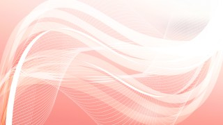 Pink and White Flowing Curves Background Vector Graphic