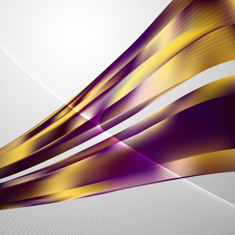 Purple and Gold Curved Lines Background