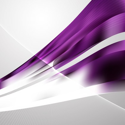 Purple and White Curved Lines Background Vector Illustration
