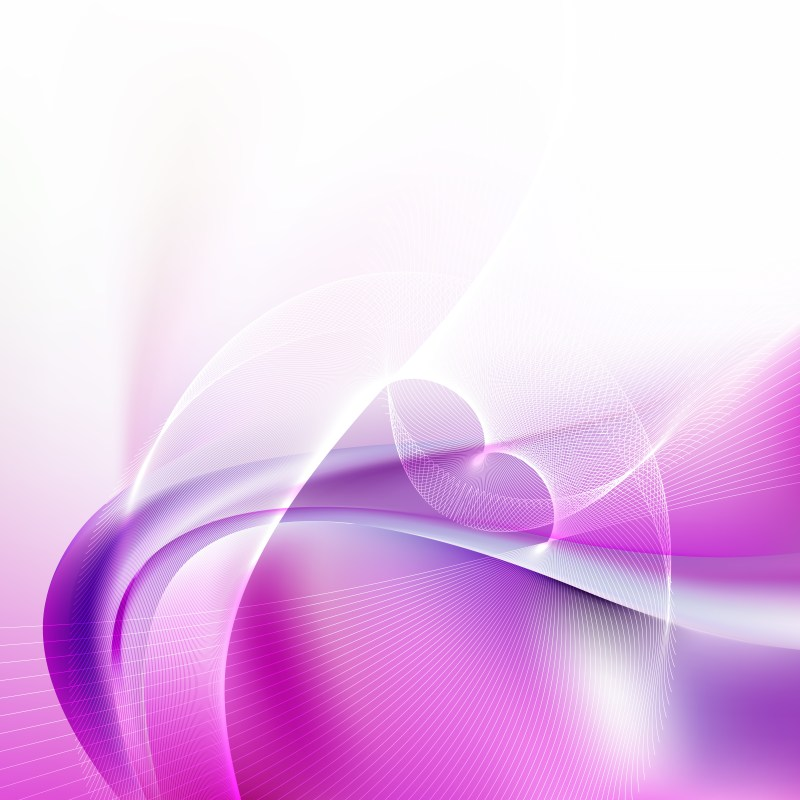 Abstract Purple and White Flowing Curves Background Vector Graphic