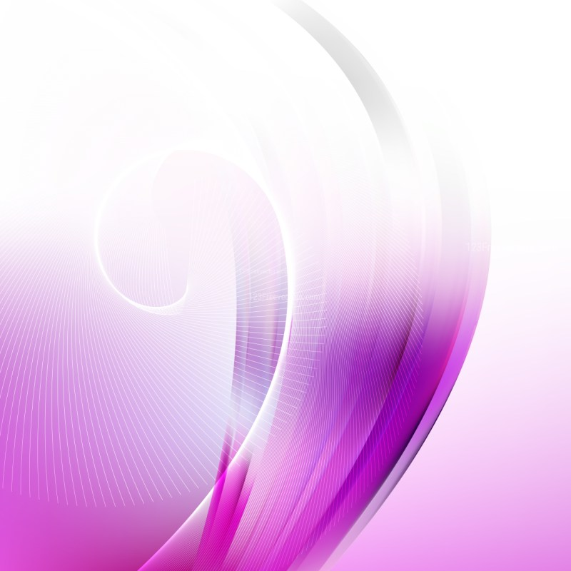 Abstract Purple and White Flowing Curves Background