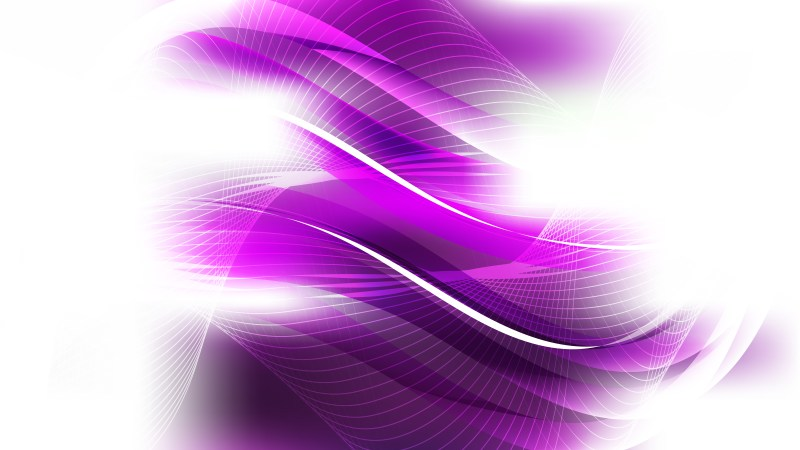 Abstract Purple and White Flow Curves Background