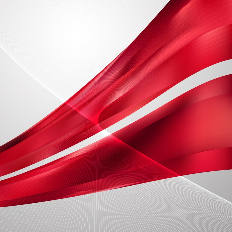Red Wavy Lines Background Template
