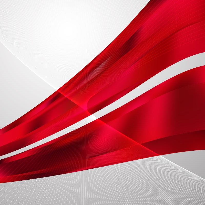 Red Flowing Curves Background Vector Graphic