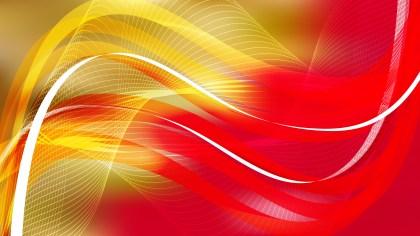 Abstract Red and Gold Flowing Curves Background Vector Graphic