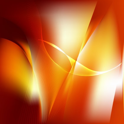 Abstract Red and Orange Wave Lines Background Design Template