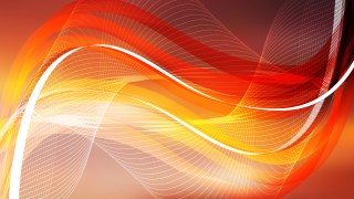 Red and Orange Flowing Curves Background