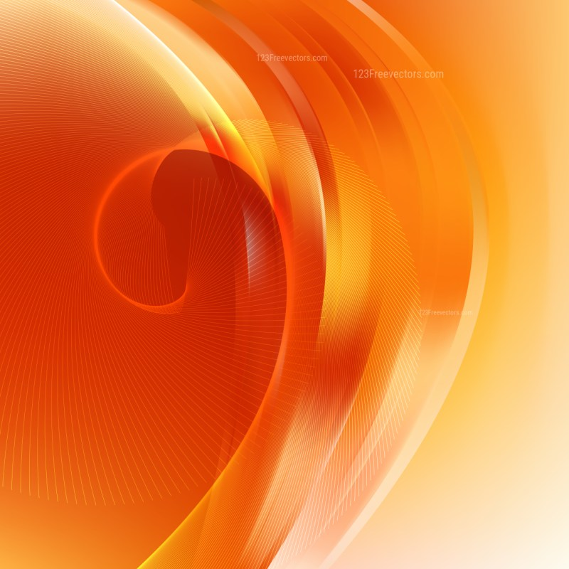 Abstract Red and Orange Flowing Curves Background Vector Graphic