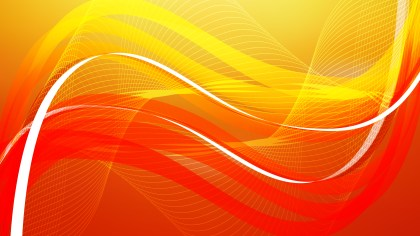 Abstract Red and Orange Wavy Lines Background