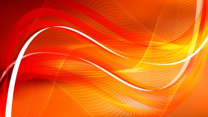 Abstract Red and Orange Curved Lines Background Vector Illustration