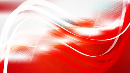 Abstract Red and White Flowing Lines Background