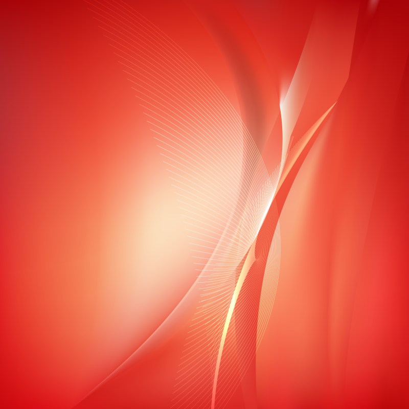 Red and White Flow Curves Background Vector Image