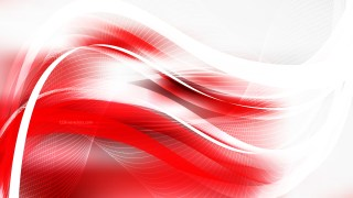 Abstract Red and White Wave Lines Background