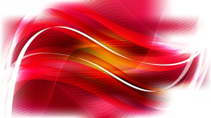 Abstract Red and White Curved Lines Background Vector Illustration