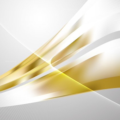 White and Gold Flowing Curves Background Vector Graphic