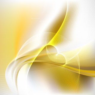 Abstract White and Gold Curved Lines Background Vector Illustration