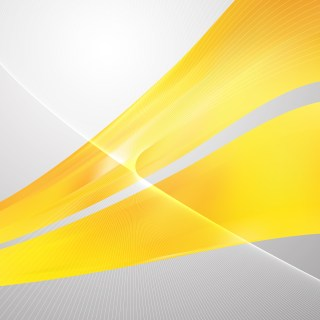 Abstract Yellow Flowing Lines Background Illustrator
