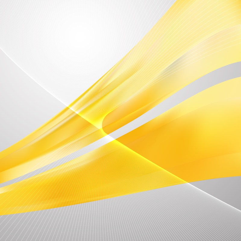 Yellow Wave Lines Background