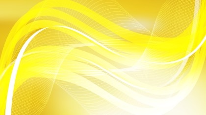 Abstract Yellow and White Curved Lines Background Vector Illustration
