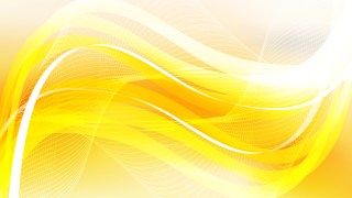 Abstract Yellow and White Flowing Curves Background Vector Graphic