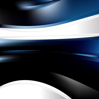 Abstract Black and Blue Background Template