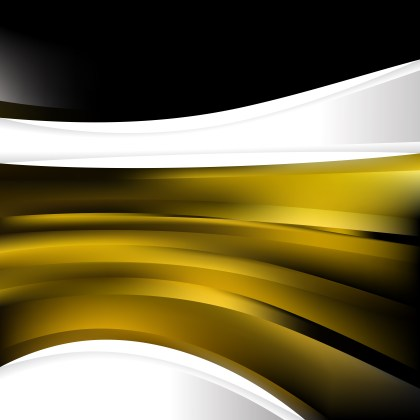 Abstract Black and Gold Background Design Template