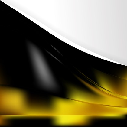 Black and Yellow Background Template Vector Illustration