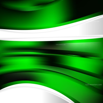 Cool Green Background Template Vector Illustration