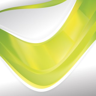Abstract Green and Yellow Background Design Template