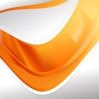 Abstract Orange Background Design Template