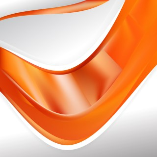 Abstract Orange Background Design Template Illustrator