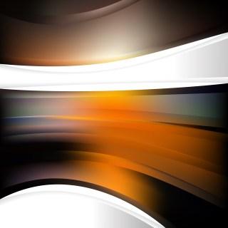 Orange and Black Background Design Template