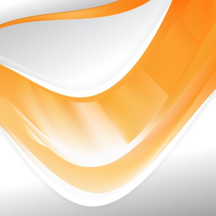 Abstract Orange and White Background Template Vector Art