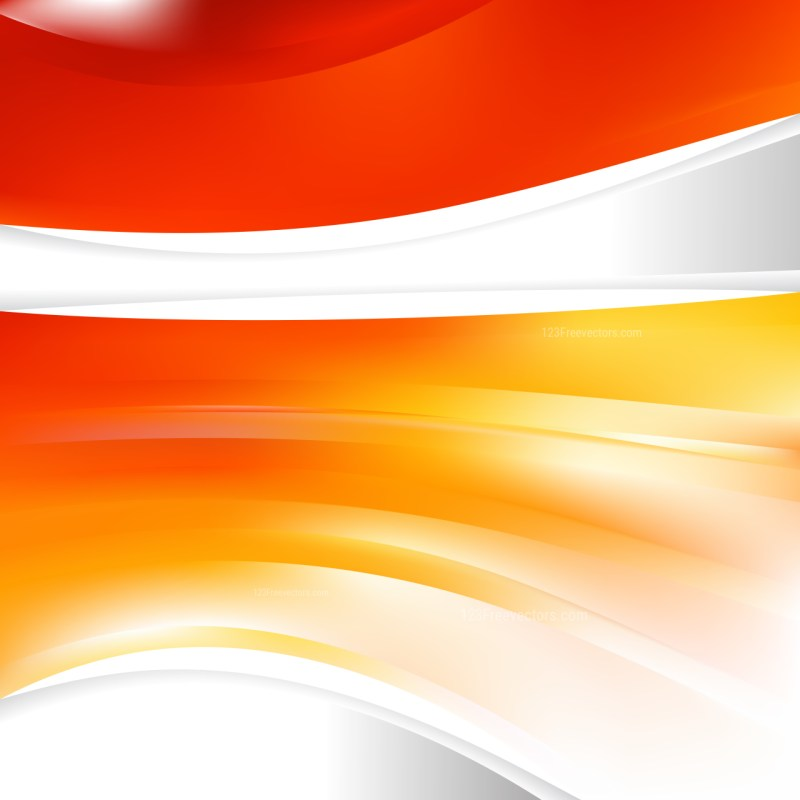 Abstract Red Orange and White Background Design Template