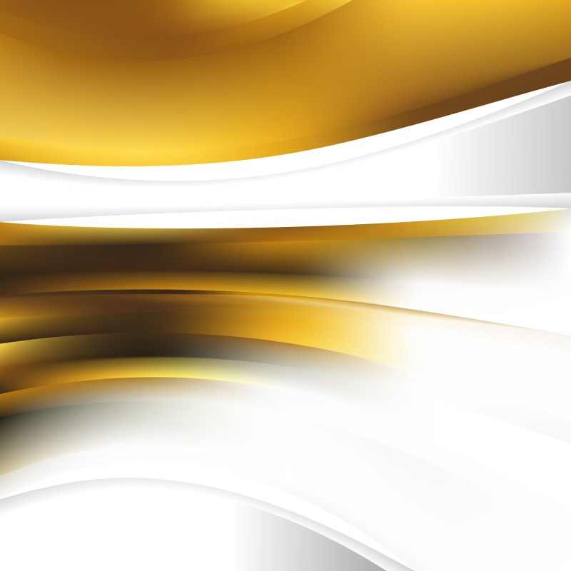 Abstract White and Gold Background Design Template